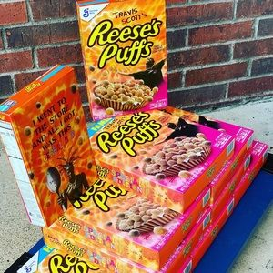 """REESE'S PUFFS SPECIAL EDITION TRAVIS SCOTT""""CEREAL"""